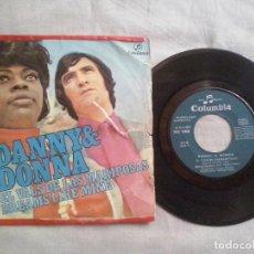 Discos de vinilo: MUSICA SINGLE: DANNY & DONNA - EL VALS DE LAS MARIPOSAS / DREAMS LIKE MINE (ABLN). Lote 115417123
