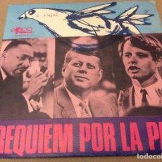 Discos de vinilo: LOS TRES HERNANDEZ-REQUIEM POR LA PAZ + TE QUIERO SINGLE 1968. Lote 115421835