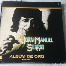 Discos de vinilo: JOAN MANUEL SERRAT. ALBUM DE ORO (ZAFIRO 1981). Lote 115431987