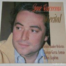 Discos de vinilo: JOSE CARRERAS - RECITAL - LP - DIAL DISCOS 1988 SPAIN. Lote 115432531