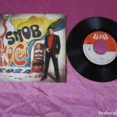 Discos de vinilo: MOCHI -SNOB-ROSA SINGLE MUY RARO VINILO. Lote 115438631
