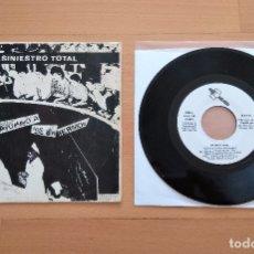 Discos de vinilo: SINGLE SINIESTRO TOTAL AYUDANDO A LOS ENFERMOS ORIGINAL DRO 1982 PUNK. Lote 47847476
