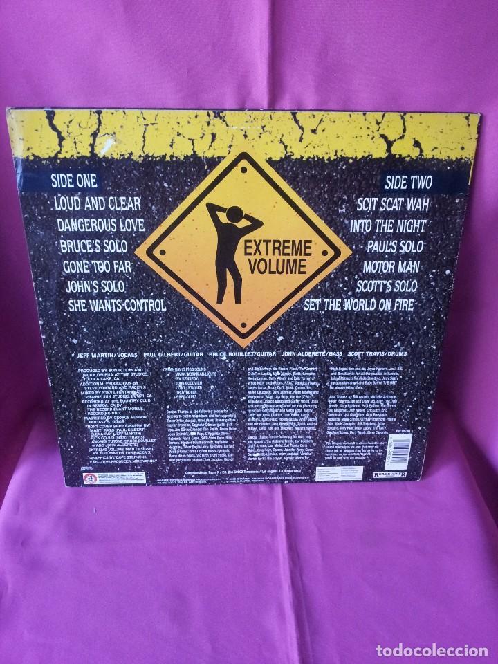 Discos de vinilo: RACER X - LP, EXTREME VOLUMEN, LIVE - ROADRUNNER 1988 - Foto 2 - 115472003