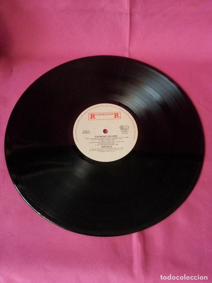 Discos de vinilo: RACER X - LP, EXTREME VOLUMEN, LIVE - ROADRUNNER 1988 - Foto 5 - 115472003