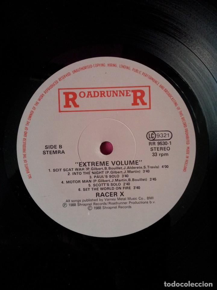 Discos de vinilo: RACER X - LP, EXTREME VOLUMEN, LIVE - ROADRUNNER 1988 - Foto 6 - 115472003