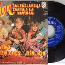 Discos de vinilo: PIPPI CALZASLARGAS CANTA A LA NAVIDAD. DIME NIÑO/RIN RIN. SINGLE 1975. Lote 115473743