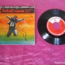 Discos de vinilo: X FESTIVAL DE LA CANCIÓN. SANREMO 1960. LIBERO,QUANDO VIEN LA SERA,ROMANTICA,NOI RF-7103. Lote 115474271