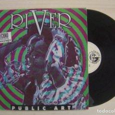Discos de vinilo: PUBLIC ART - RIVER - RUN DRY + GET WET - MAXISINGLE 45 - ESPAÑOL 1994 - BLANCO Y NEGRO. Lote 115476583