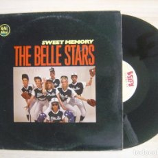 Discos de vinilo: THE BELLE STARS - SWEET MEMORY - MAXISINGLE 45 - ESPAÑOL 1983 - STIF. Lote 115480039