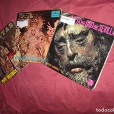 Discos de vinilo: SAETAS 3 LOTE EPS ARREBOLÑA-P.SOTO-P.VALENCIA DISCO SEMANA SANTA VER FOTOS. Lote 115486127