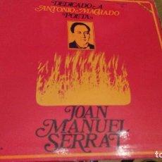 Discos de vinilo: DEDICADO A ANTONIO MACHADO POETA - JOAN MANUEL SERRAT -RICARD MIRALLES ZAFIRO SERDISCO- 1969- LP .... Lote 115493255