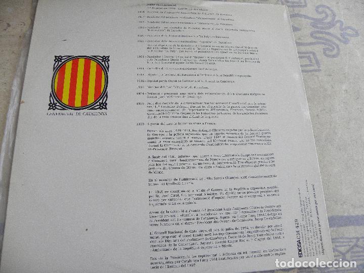 Discos de vinilo: PARLA: JOSEP TARRADELLAS PRESIDENT DE LA GENERALITAT -LP 1977 PROMO -BUEN ESTADO - Foto 2 - 115506595