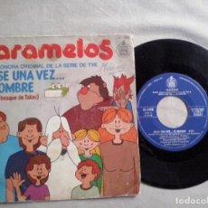 Discos de vinilo: MUSICA SINGLE: CARAMELOS.1979. ERASE UNA VEZ EL HOMBRE / JACKY TVE TELEVISION (ABLN). Lote 115520735