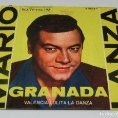 Discos de vinilo: SINGLE - MARIO LANZA - GRANADA - 1962. Lote 115523287