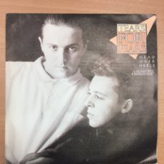 Discos de vinilo: TEARS FOR FEARS. HEAD OVER HEELS SINGLE POLYGRAM 1985 ESPAÑA. Lote 115536534