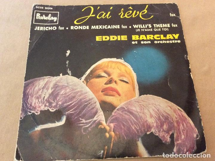 EDDIE BARCLAY ET SON ORCHESTRE ?– J'AI RÊVÉ. JERICHO, RONDE MEXICAINE, WILLI'S THEME. (Música - Discos de Vinilo - EPs - Orquestas)