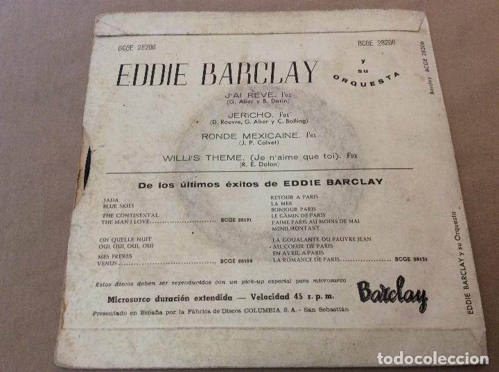 Discos de vinilo: Eddie Barclay Et Son Orchestre ?– Jai Rêvé. Jericho, ronde Mexicaine, willis theme. - Foto 2 - 115547191