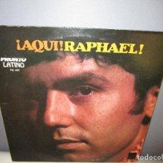 Discos de vinilo: ¡AQUI! RAPHAEL LP EDICIO DE U.S.A. DOS PALOMITAS - ERES TU - JINETES EN EL CIELO - YO - ELLA ES . Lote 115564539