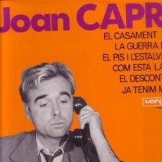 Discos de vinilo: JOAN CAPRI - EL CASAMENT - LP VERGARA 1967 - MONOLOGOS HUMOR CATALAN. Lote 115575691