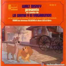 Discos de vinilo: DISCO CUENTO INFANTIL WALT DISNEY PRESENTA, LA DAMA Y EL VAGABUNDO - SINGLE DISNEYLAND CON CUENTO. Lote 115582955