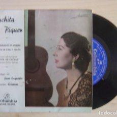 Discos de vinilo: CONCHITA PIQUER - Y SIN EMBARGO TE QUIERO + AMANTE DE ABRIL Y MAYO - SINGLE 1963 - COLUMBIA. Lote 115591539