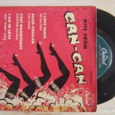 Discos de vinilo: HITS FROM CAN CAN - I LOVE PARIS + CEST MAGNIFIQUE + ALLEZ..- EP ESPAÑOL - CAPITOL. Lote 115594523