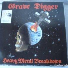 Discos de vinilo: GRAVE DIGGER HEAVY METAL BREAKDOWN . Lote 115605495