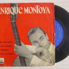 Discos de vinilo: ENRIQUE MONTOYA - EP 1962 - REGAL. Lote 115606775