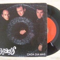 Discos de vinilo: ESTRAGOS - CADA DIA MAS + TODO VA BIEN - SINGLE PROMOCIONAL 1992 - HUELLA. Lote 115607687