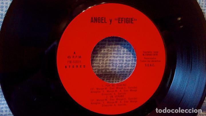 Discos de vinilo: EFIGIE canta: ANGEL - Por mi camino / Un verano / Milagro de amor / To Malaga - AUTOEDITADO 1976 - Foto 3 - 115609611
