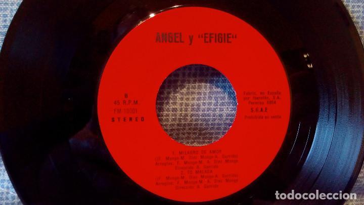 Discos de vinilo: EFIGIE canta: ANGEL - Por mi camino / Un verano / Milagro de amor / To Malaga - AUTOEDITADO 1976 - Foto 4 - 115609611