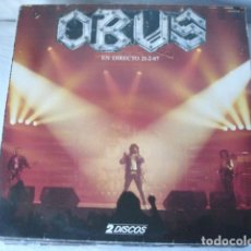 Discos de vinilo: OBUS ?– EN DIRECTO 21-2-87 (2XLP GATEFOLD). Lote 115609663