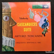 Discos de vinilo: TCHAIKOVSKY. CASCANUECES. TOSCANINI. 2 EPS. PORTADA ABIERTA CON TEXTO. 50'S. RAREZA. MUY BUEN ESTADO. Lote 115645835