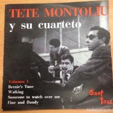 Discos de vinilo: EP TETE MONTOLIU Y SU CUARTETO VOLUMENT 1 EDITADO POR SAEF JAZZ 1958. Lote 115652079