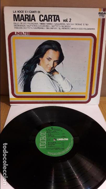 LA VOCE E I CANTI DI MARIA CARTA. VOL. 2 / LP - RCA-LINEATRE - 1980 / MBC. ***/*** (Música - Discos - LP Vinilo - Canción Francesa e Italiana)