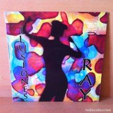 Discos de vinilo: RAY 1993 ILUSIONES - LP PRODUCCIONES MÁS VOLUMEN [TECHNO, TECNOPOP]. Lote 115656583