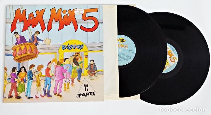 DISCO DE VINILO LP DOBLE MAX MIX 5 1ª PARTE.1987. (Música - Discos - LP Vinilo - Disco y Dance)