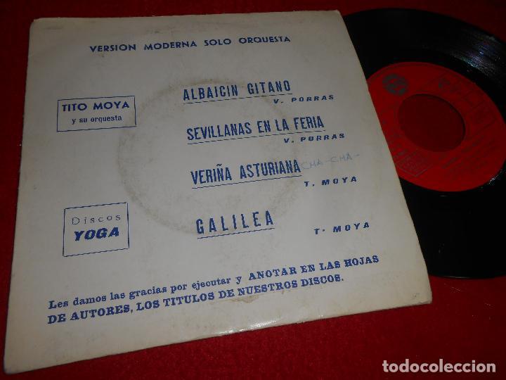 ORQUESTA TITO MOYA ALABAICIN GITANO/GALILEA/SEVILLANAS EN LA FERIA +1 EP 1974 YOGA (Música - Discos de Vinilo - EPs - Grupos Españoles de los 70 y 80)