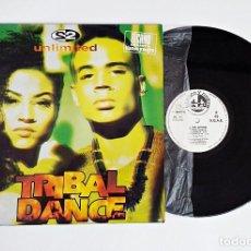 Discos de vinilo: DISCO DE VINILO MAXI-SINGLE S2 UNLIMITED - TRIBAL DANCE . Lote 119214723