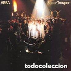Discos de vinilo: ABBA - SUPER TROUPER - LP VOGUE FRANCE 1980 + ENCARTE. Lote 115693939