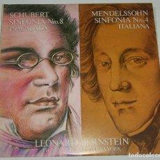 Discos de vinilo: LEONARD BERNSTEIN. FILARMÓNICA DE N. Y. SHUBERT, SINFONÍA NO. 8. MENDELSSON SINFONÍA NO. 4 - 1981. Lote 115695219