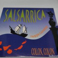 Discos de vinilo: LP - SALSARRICA - SABOR CANARIO - COLON, COLON - 1992. Lote 115695883