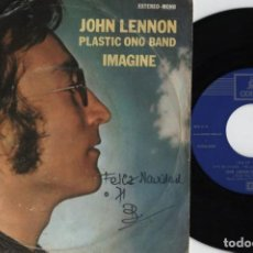 Discos de vinilo: JOHN LENNON & THE PLASTIC ONO BAND - IMAGINE - SINGLE ESPAÑOL DE VINLO. Lote 115705411