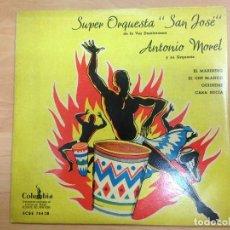 Disques de vinyle: EP LATIN JAZZ SUPER ORQUESTA SAN JOSE/ ANTONIO MOREL EDITADO EN ESPAÑA POR COLUMBIA . Lote 115707123
