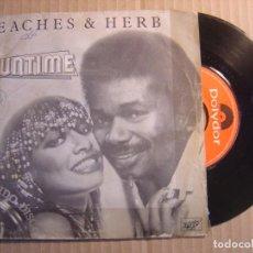 Discos de vinilo: PEACHES & HERB - FUNTIME - SINGLE ESPAÑOL 1980 - POLYDOR. Lote 115708791
