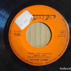 Discos de vinilo: LITA CLAVER LA MAÑA - CALIXTA+ CHISTES + SOY MODELO - SINGLE 1980 - OLYMPO. Lote 115713431
