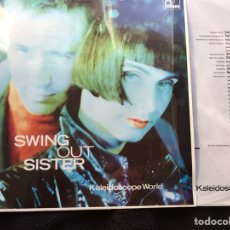 Discos de vinilo: SWING OUT SISTER. KALEIDOSCOPE WORLD. FONTANA 1989. FUNDA INTERIOR CON LETRAS. Lote 115714787