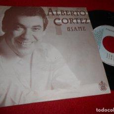 Discos de vinilo: ALBERTO CORTEZ USAME/INSTRUCCIONES PARA SER UN PEQUEÑO BURGUES 7'' SINGLE 1985 HISPAVOX. Lote 115716523