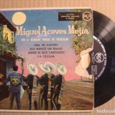 Discos de vinilo: MIGUEL ACEVES MEJIA - CON EL MARIACHI VARGAS DE TECALITLAN - EP ESPAÑOL 1958 - RCA. Lote 115718151