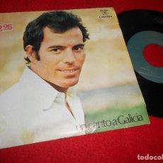 Discos de vinilo: JULIO IGLESIAS UN CANTO A GALICIA/COMO EL ALAMO AL CAMINO 7'' SINGLE 1971 COLUMBIA. Lote 115718291